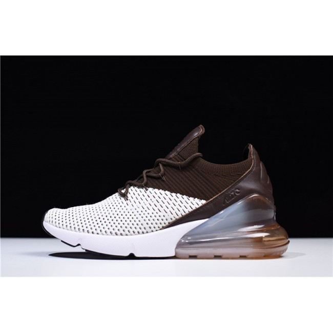 Mens/Womens Nike Air Max 270 Flyknit Dark Hazel Light Bone White