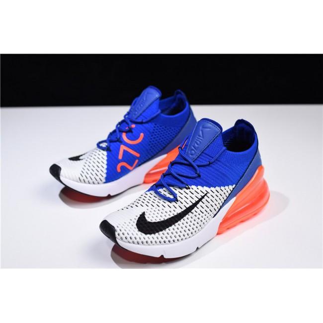 Mens/Womens Nike Air Max 270 Flyknit Racer Blue Total Crimson