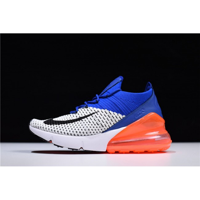 Mens/Womens Nike Air Max 270 Flyknit Racer Blue Total Crimson