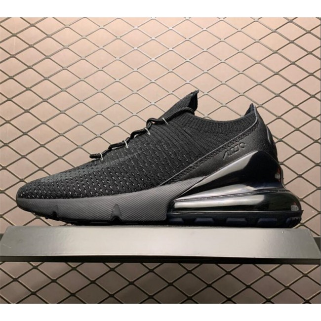 Mens Nike Air Max 270 Flyknit Triple Black