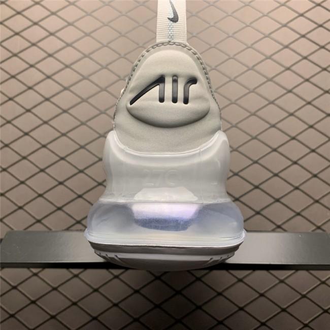 Mens/Womens Nike Air Max 270 White Metallic Silver BQ9240-002