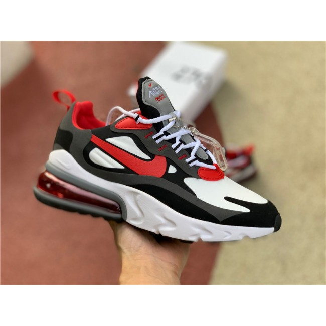 Mens/Womens Nike Air Max 270 React Black University Red Running Shoes