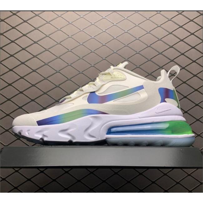 Mens Nike Air Max 270 React Bubble Pack Summit White
