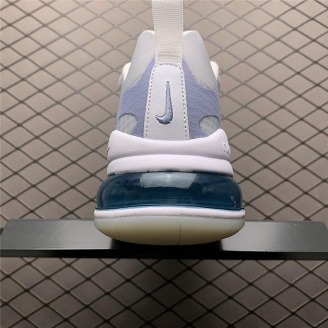 Mens Nike Air Max 270 React SE White-Pure Platinum-Indigo Fog