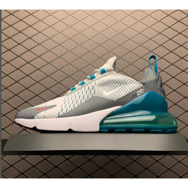 Mens/Womens Nike Air Max 270 Trainers Pure Platinum White-Cool Grey