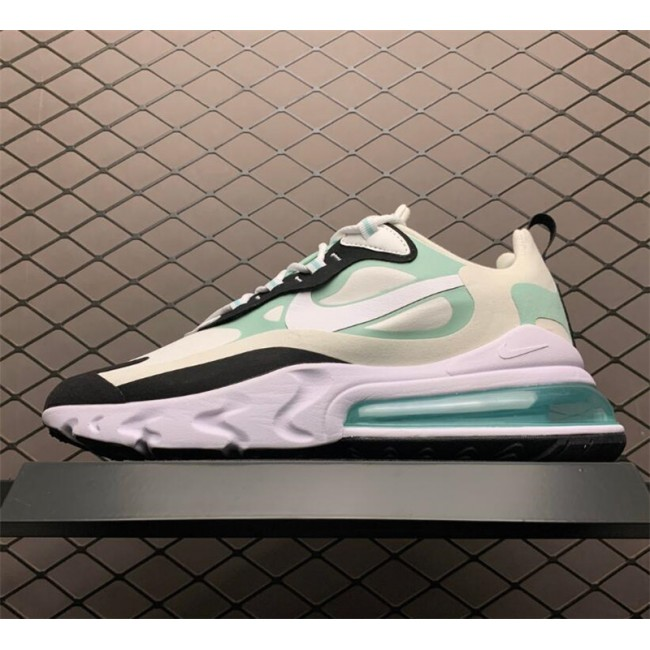 Mens Nike Air Max 270 React White Blue Black On Sale