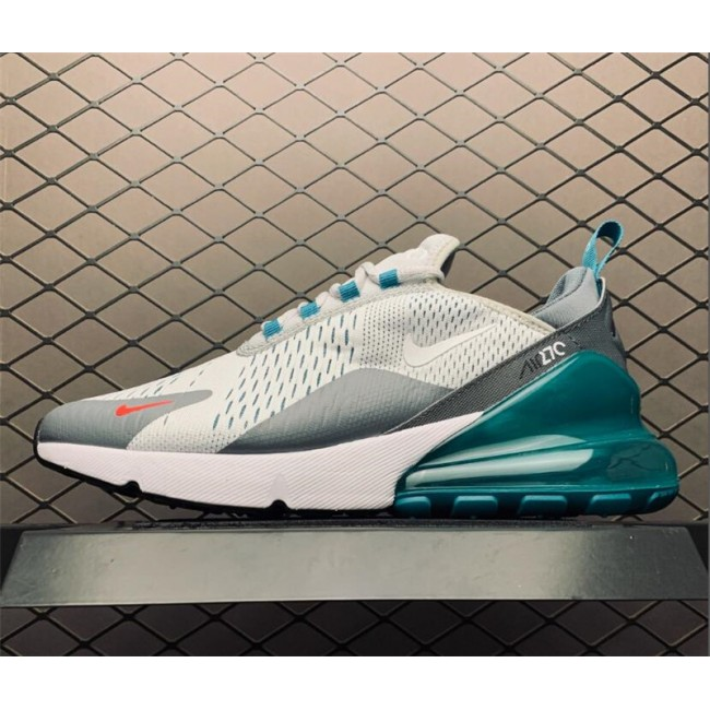 Mens Nike Air Max 270 Trainers Pure Platinum White-Cool Grey