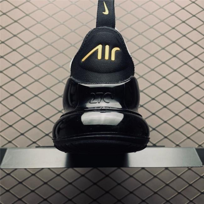 Mens Shoes Nike Air Max 270 White Gold Black Sale