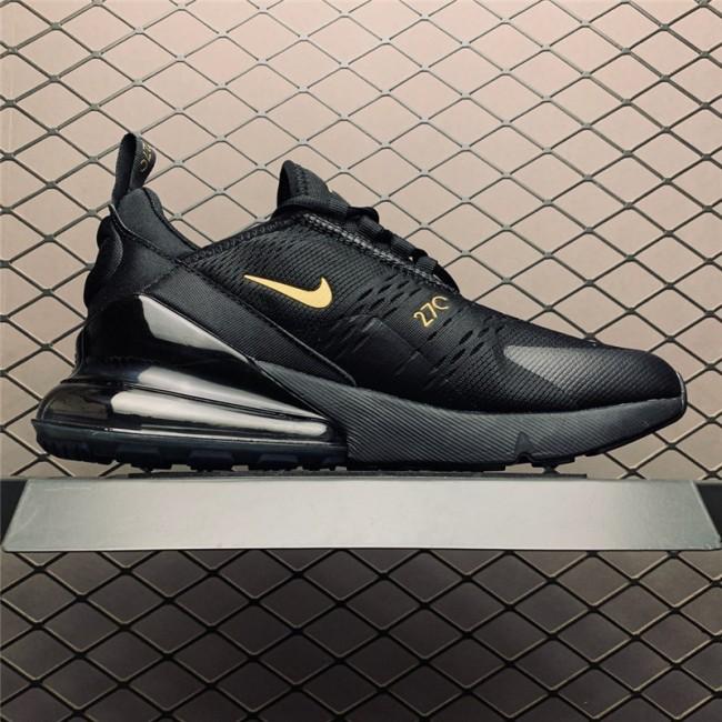 Mens Nike Air Max 270 Black Gold AH8050-007