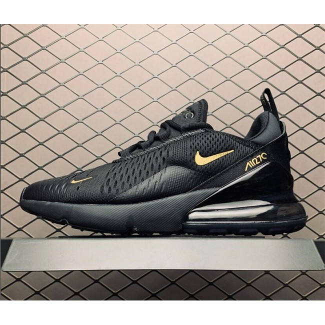 Mens Nike Air Max 270 Black Gold AH8050-007
