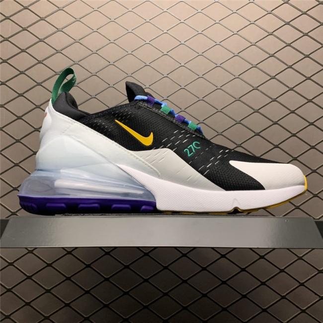 Mens/Womens Nike Air Max 270 Black White Green Yellow Running Shoes
