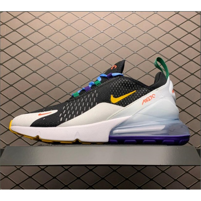Mens/Womens Nike Air Max 270 Black White Green Yellow Running Shoes