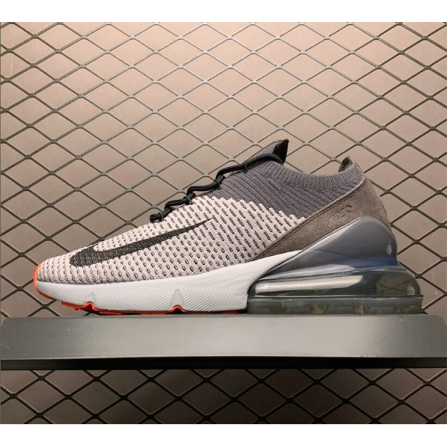 Mens Nike Air Max 270 Flyknit Atmosphere Grey Casual Shoes