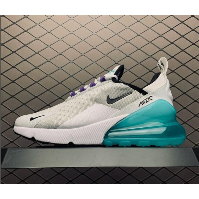 Womens Nike Air Max 270 GS Platinum Jade On Sale
