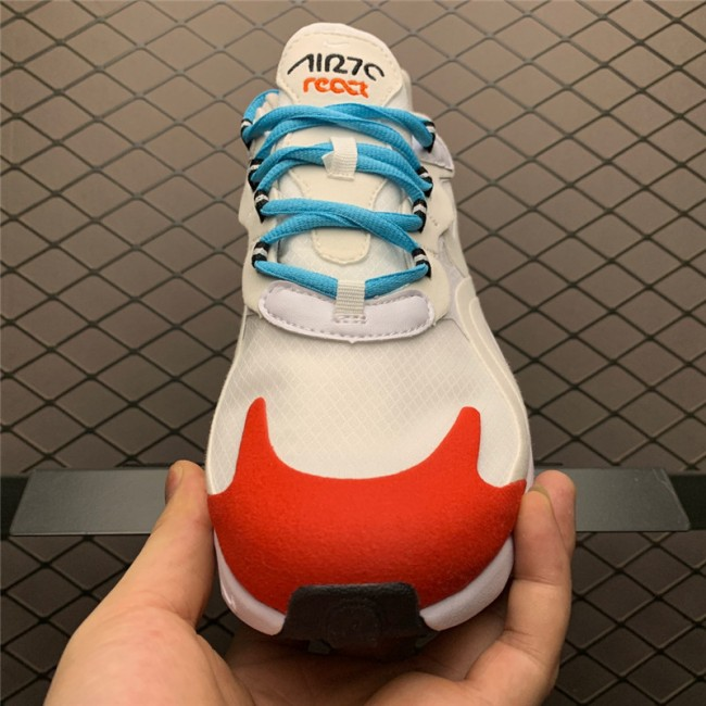 Mens/Womens Nike Air Max 270 React Light Beige Chalk Platinumt