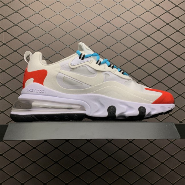 Mens/Womens Nike Air Max 270 React Light Beige Chalk Platinumt