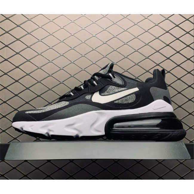 Mens/Womens Nike Air Max 270 React Optical Black Vast Grey-Off Noir