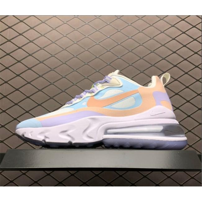 Womens Nike Air Max 270 React Sail Coral Stardust-White