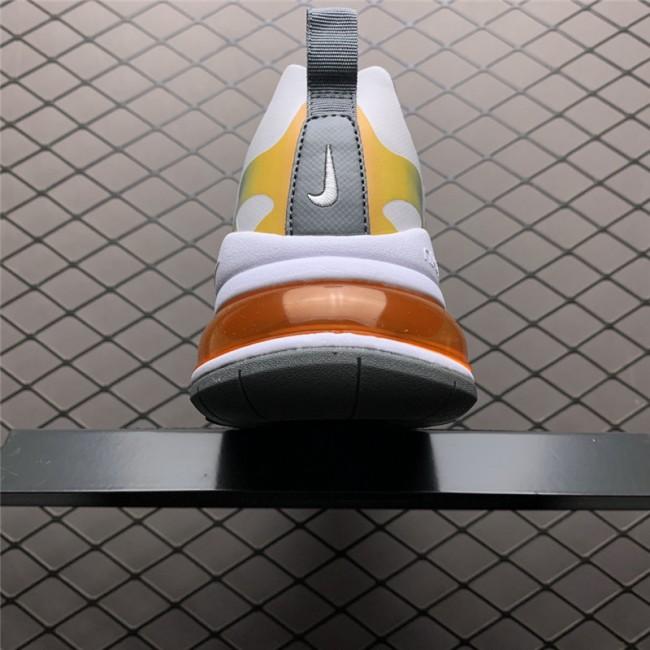 Mens/Womens Nike Air Max 270 React Summit White Bust Grey-Metallic Gold