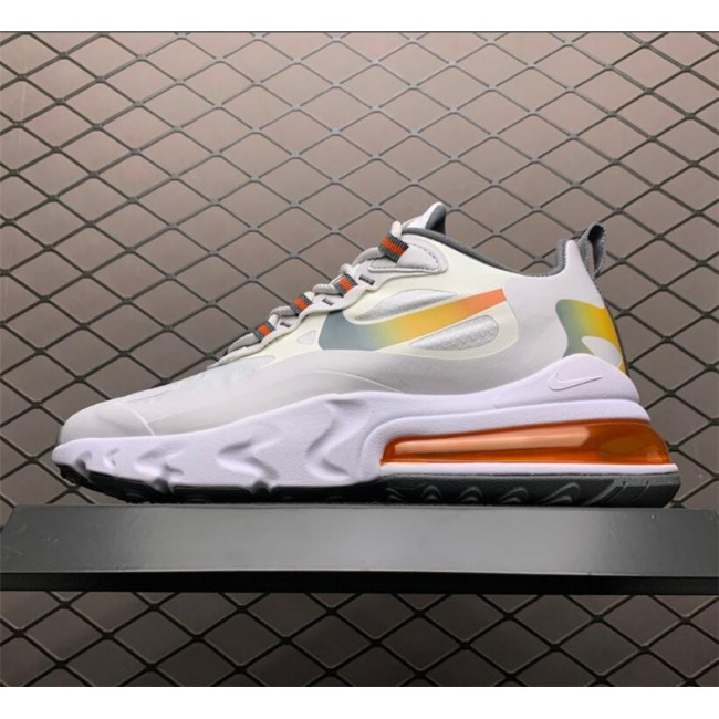 Mens/Womens Nike Air Max 270 React Summit White Bust Grey-Metallic Gold