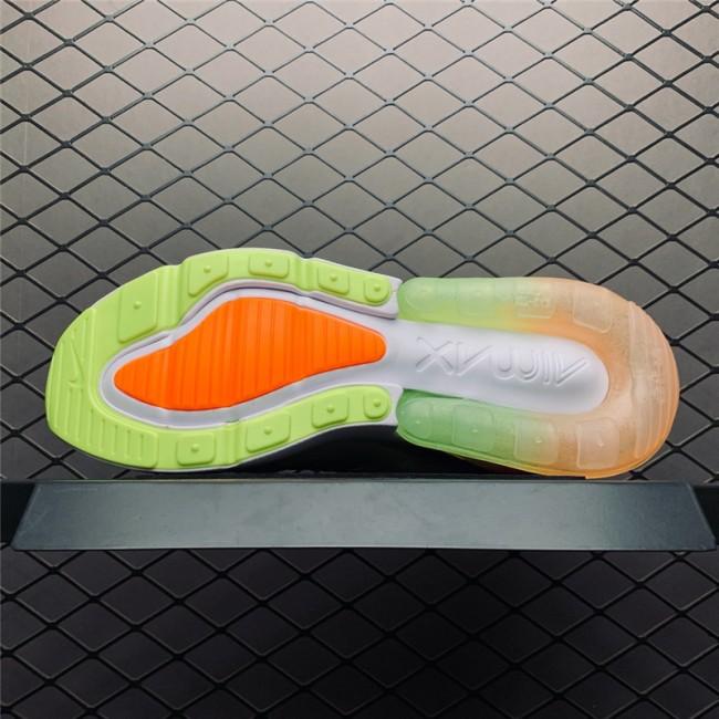 Mens/Womens Nike Air Max 270 Summer Gradient White Volt Orange