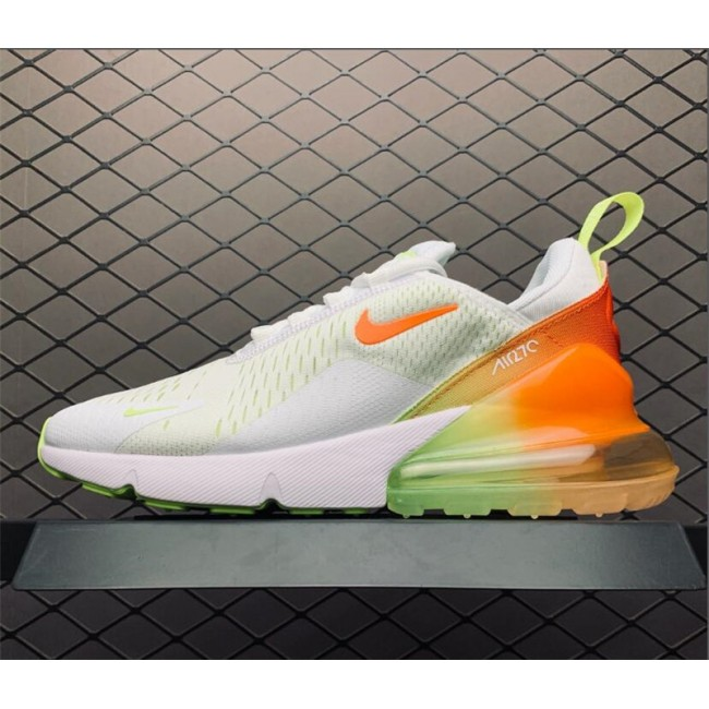 Mens/Womens Nike Air Max 270 Summer Gradient White Volt Orange
