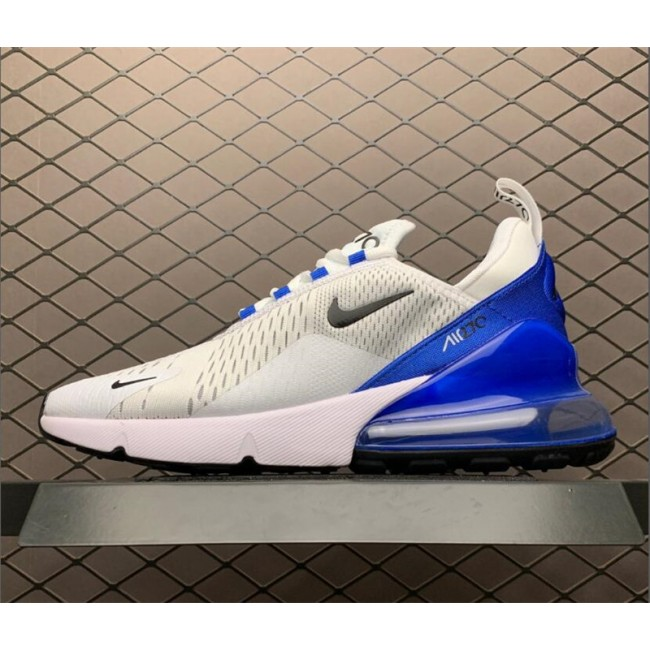 Mens Nike Air Max 270 White Blue Tennis AH8050-110
