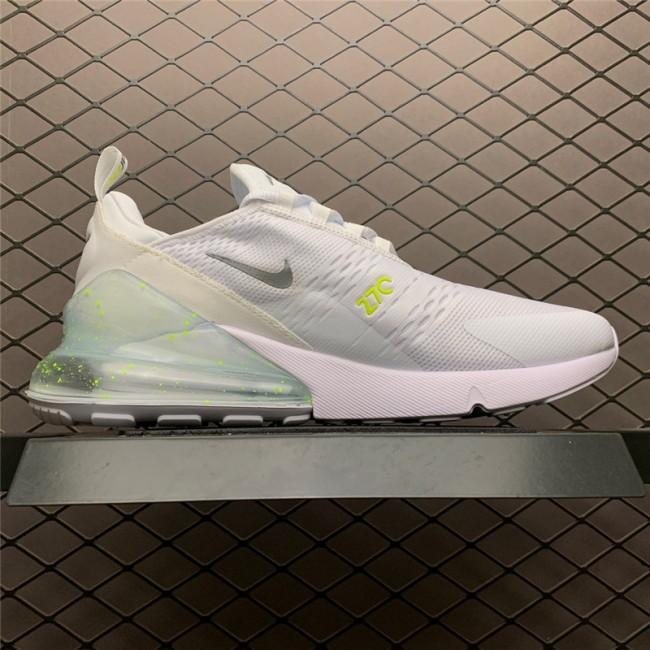 Mens/Womens Nike Air Max 270 White Volt Metallic Silver