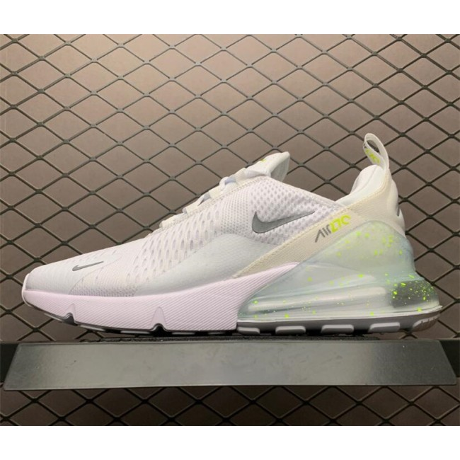 Mens/Womens Nike Air Max 270 White Volt Metallic Silver