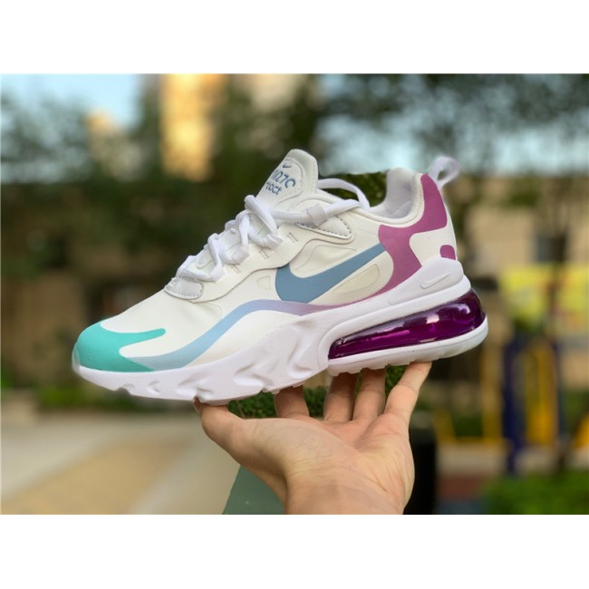 Womens Nike Air Max 270 React White Multicolor Online Sale