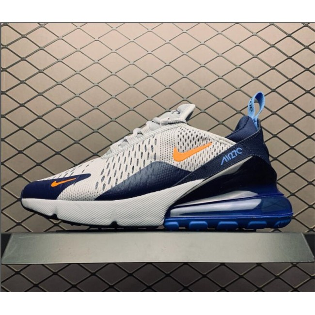 Womens Nike Air Max 270 Wolf Grey Midnight Navy-Photo Blue