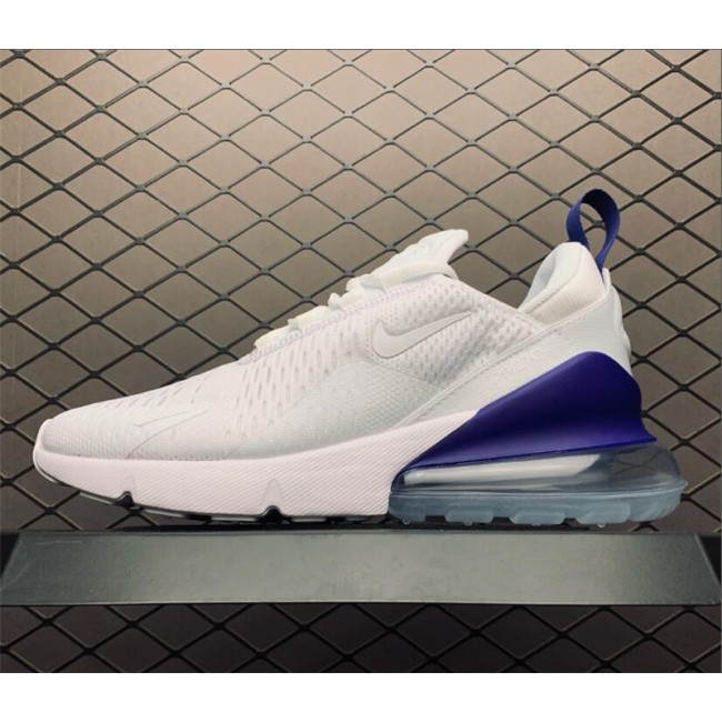 Mens Summer Shoes Nike Air Max 270 HQ Trivia White Blue Size