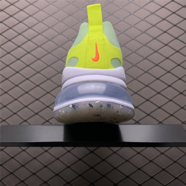 Womens Nike Air Max 270 React White Flash Crimson-Cucumber Green