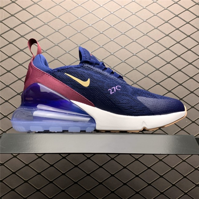 Womens Nike Air Max 270 Blue Void Running Shoes AH6789-402