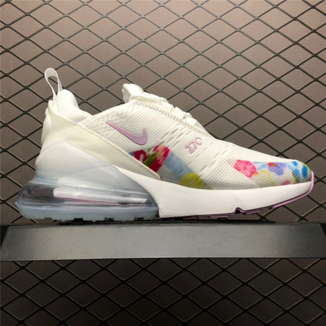 Womens Nike Air Max 270 Floral White Pink AT6819-100