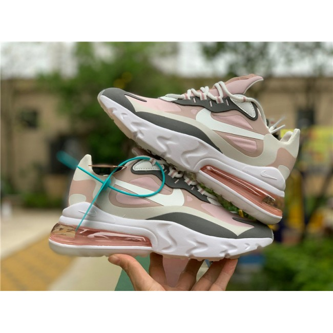Womens Nike Air Max 270 React Plum Chalk Casual Shoes