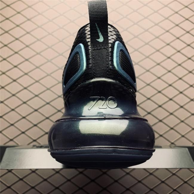 Mens/Womens Nike Air Max 720 Throwback Future Black-Metallic Silver