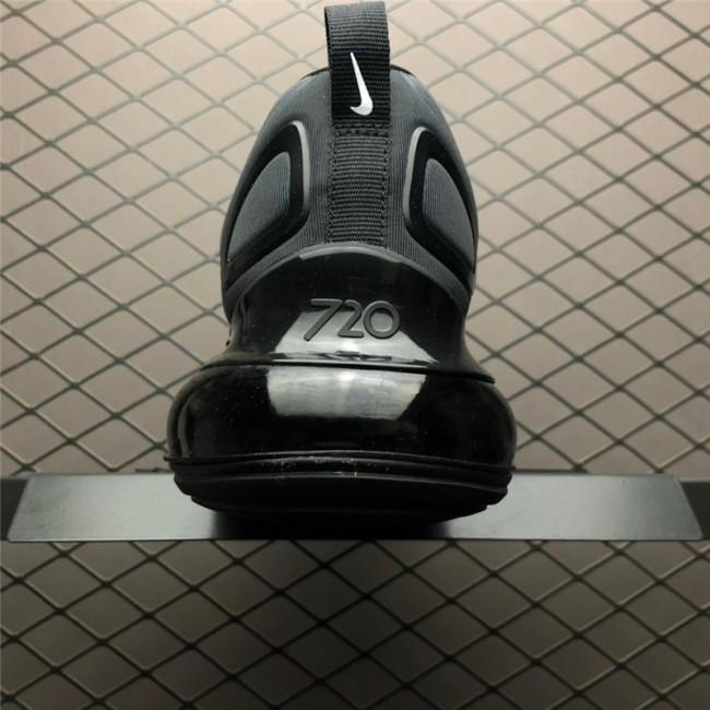 Mens/Womens Nike Air Max 720 Triple Black Running AO2924-004