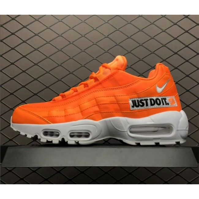 Mens/Womens Nike Air Max 95 Just Do It Total Orange White-Black