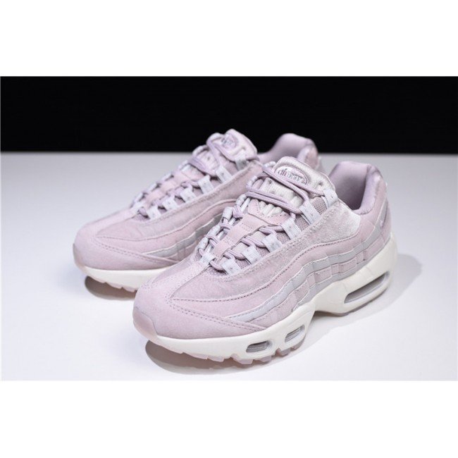 Womens Nike Air Max 95 Deluxe Particle Rose Vast Grey Summit White