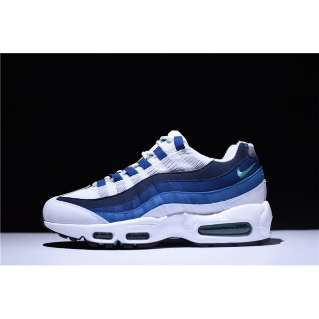 Mens Nike Air Max 95 OG Slate White Gradient Blue On Sale