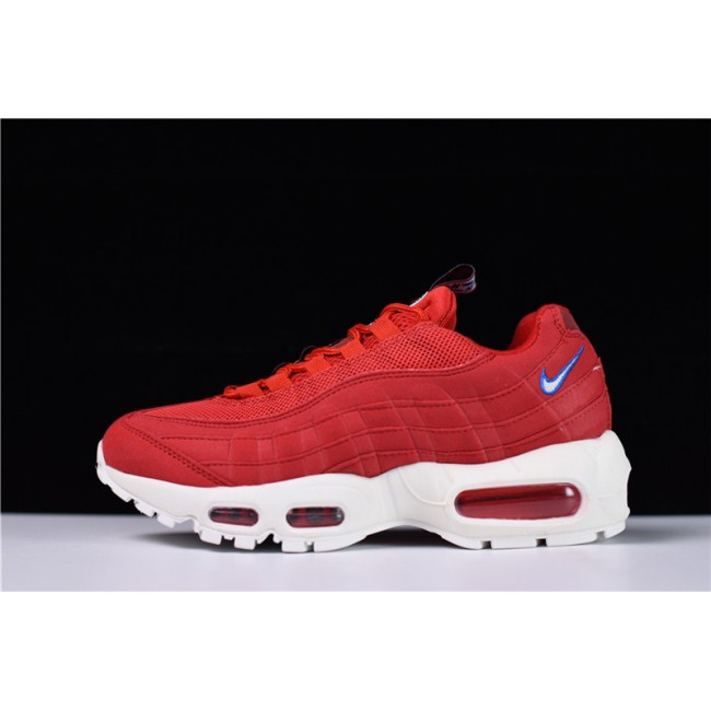 Mens/Womens Nike Air Max 95 Premium TT Gym Red Sail-Gym Blue