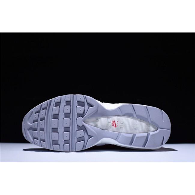 Mens Nike Air Max 95 White Team Red 749766-103