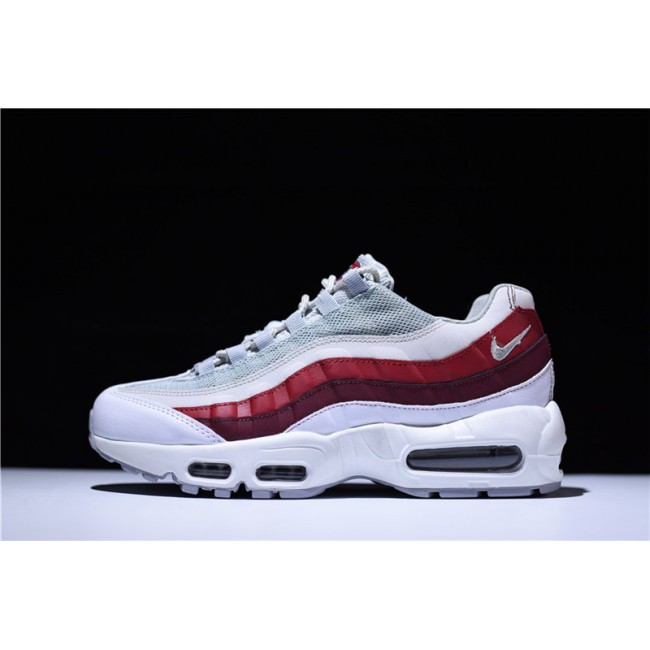 Mens Nike Air Max 95 White Team Red 749766-103