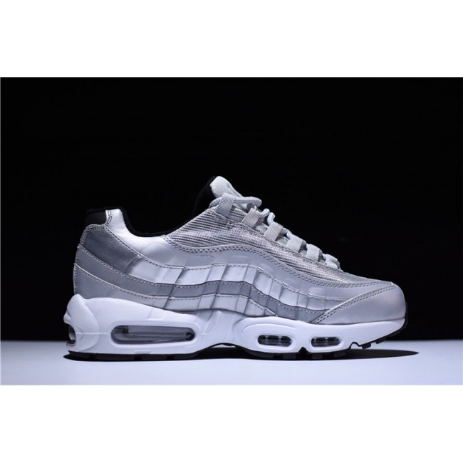 Mens Nike Air Max 95 Premium QS Silver Bullet Metallic Silver
