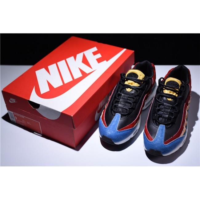 Mens Nike Air Max 95 Premium Multi-Color Black-Dark Cayenne-Rio Teal