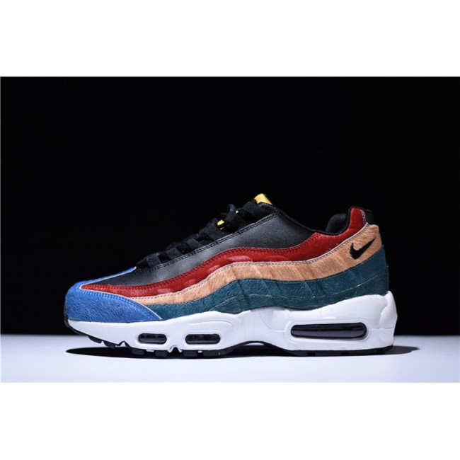 Mens Nike Air Max 95 Premium Multi-Color Black-Dark Cayenne-Rio Teal