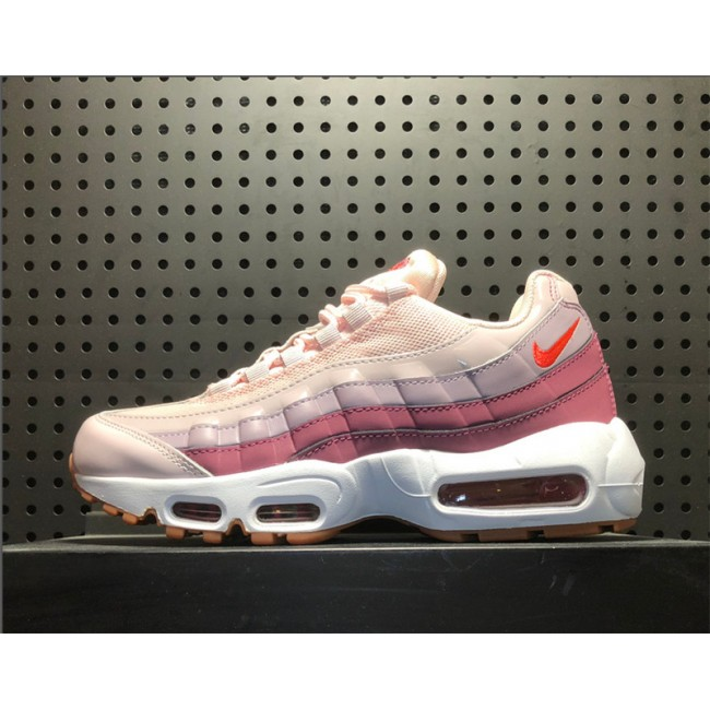 Womens Nike Air Max 95 Barely Rose Hot Punch-Vintage Wine-White