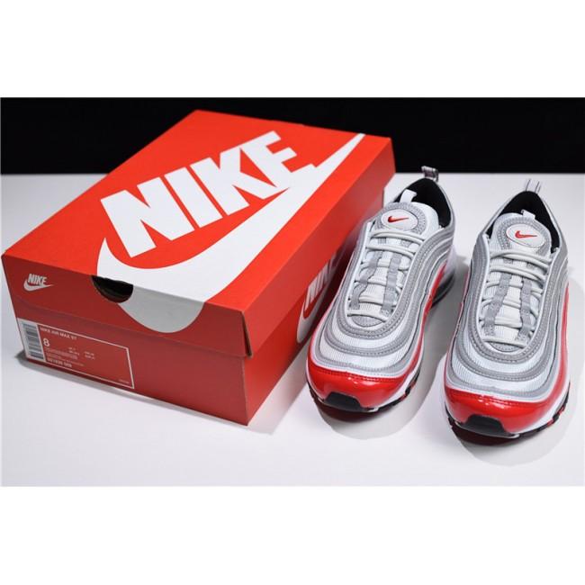 Mens/Womens Nike Air Max 97 OG Pure Platinum University Red-White