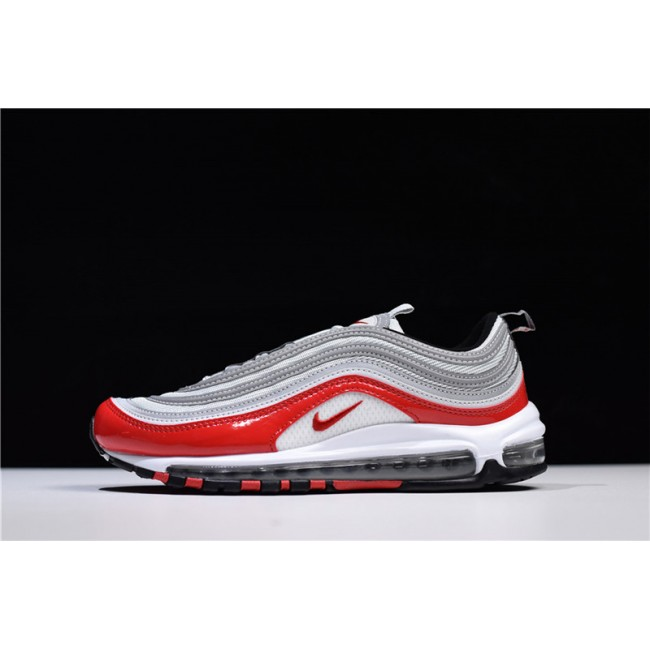 Mens/Womens Nike Air Max 97 OG Pure Platinum University Red-White